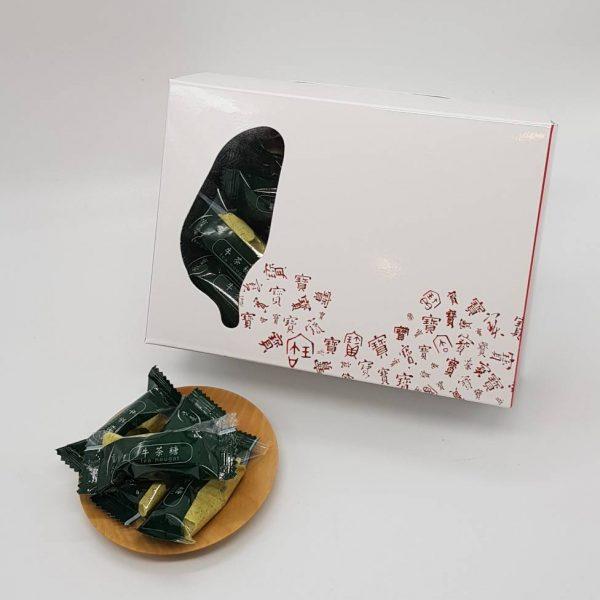 牛茶糖盒裝 綠茶
